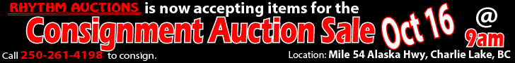 Consignment Auction Mile 54, Charlie Lake, BC - Oct 16, 2021